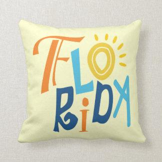 Florida fun typographic design pillow