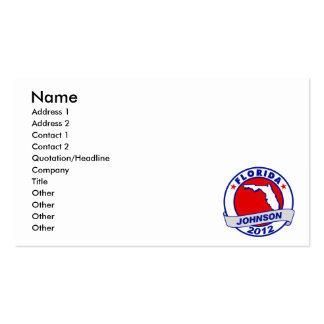 Florida Gary Johnson Business Card