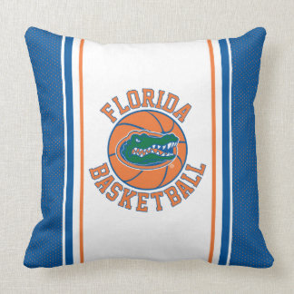Florida Gator Basketball Throw Pillow