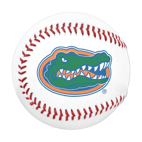 Florida Gator Head Baseball
