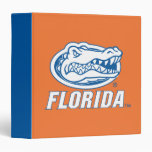 Florida Gator Head - Blue & White 3 Ring Binders