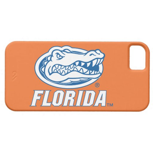 Florida Gator Head - Blue & White iPhone 5 Cases