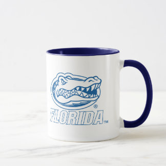 Florida Gator Head Blue & White Mug