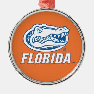 Florida Gator Head - Blue White Ornament