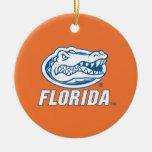 Florida Gator Head - Blue & White Ornament