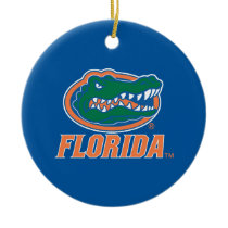 Florida Gator Head Ceramic Ornament