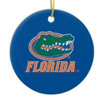 Florida Gator Head Ceramic Ornament