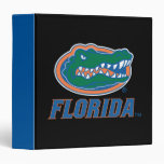 Florida Gator Head - Color 3 Ring Binder