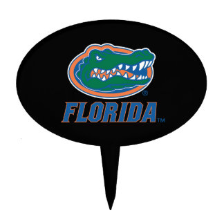 Florida Gator Head - Color Oval Cake Toppers