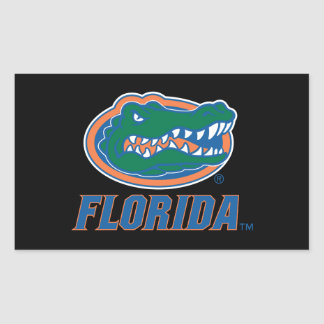 Florida Gator Head - Color Rectangular Sticker
