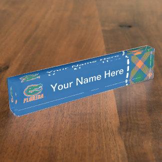 Florida Gator Head Desk Name Plate