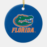 Florida Gator Head Double-Sided Ceramic Round Christmas Ornament