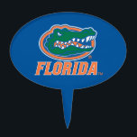 "Florida Gator Head Full-Color Cake Topper<br><div class=""desc"">Check out this full-color Florida Gator Head icon with Florida in orange. Zazzle offers the most exciting and unique gear for the ultimate Florida Gator fan! All of our products are officially licensed and customizable, which makes them perfect for students, alumni, family, fans, and faculty. Whether you are gearing up...</div>"