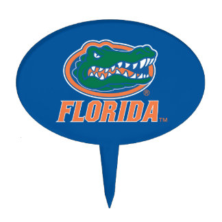 Florida Gator Head Full-Color Cake Topper