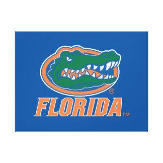 Florida Gator Head - Orange & White Canvas Print