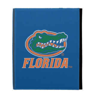 Florida Gator Head - Orange White iPad Folio Cover