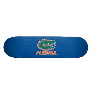 Florida Gator Head - Orange & White Custom Skateboard