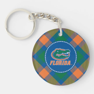 Florida Gator Head - Orange & White Acrylic Keychain