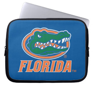 Florida Gator Head - Orange & White Computer Sleeve