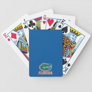 Florida Gator Head - Orange & White Poker Deck