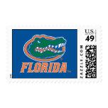 Florida Gator Head - Orange & White Postage Stamp