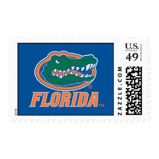 Florida Gator Head - Orange & White Stamps