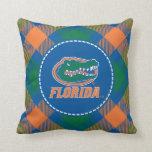 Florida Gator Head - Orange & White Throw Pillow