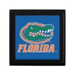 Florida Gator Head - Orange & White Trinket Boxes