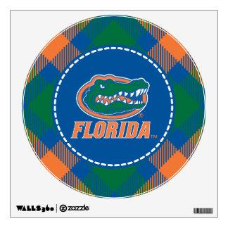 Florida Gator Head - Orange & White Wall Graphic