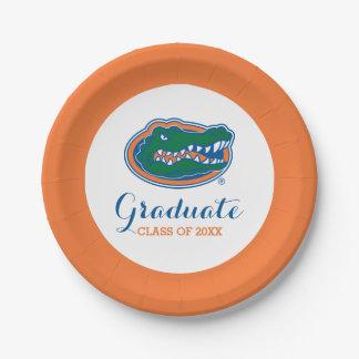 Florida Gator Head Paper Plate