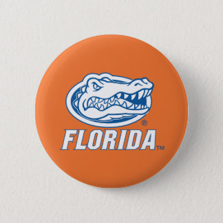 Florida Gator Head Pinback Button