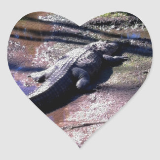 Florida Gator Heart Sticker