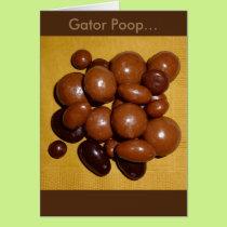 Florida Gator Poop Chocolate Specialties Card