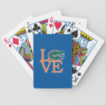 """Florida Gators Love Bicycle Playing Cards<br><div class=""""desc"""">Zazzle offers the most exciting and unique gear for the ultimate Florida Gator fan! All of our products are officially licensed and customizable, which makes them perfect for students, alumni, family, fans, and faculty. Whether you are gearing up for tailgating, hosting a party for a Florida fan, or decorating your...</div>"""
