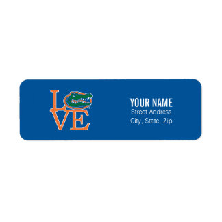 Florida Gators Love Label