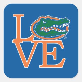 Florida Gators Love Square Sticker