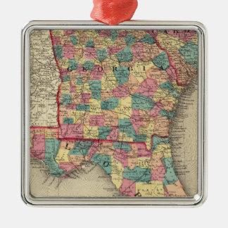 Florida, Georgia, and South Carolina 2 Christmas Ornament
