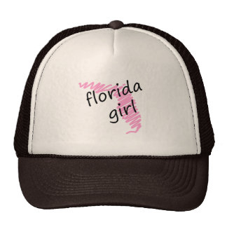 Florida Girl with Scribbled Florida Map Trucker Hat