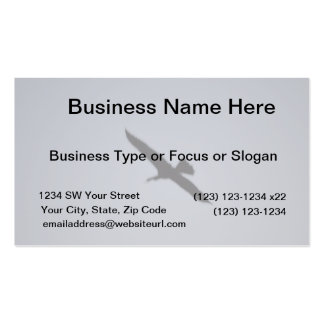 florida great white egret against sky shadow bird Double-Sided standard business cards (Pack of 100)