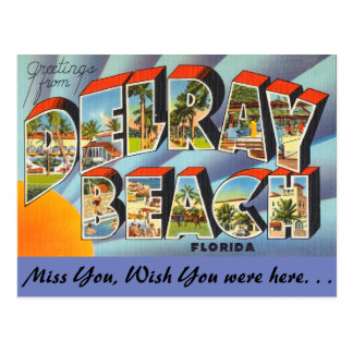 Florida, Greetings from Delray Beach Postcard