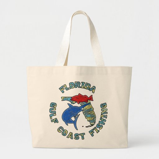 Florida Gulf Coast Fishing Canvas Bags