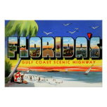 Florida Gulf Coast Highway Large Letter Poster
