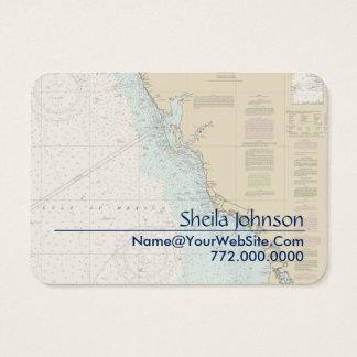 Florida Gulf Coast Punta Gorda Nautical Chart Business Card