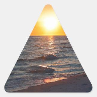Florida gulf coast sunset triangle sticker