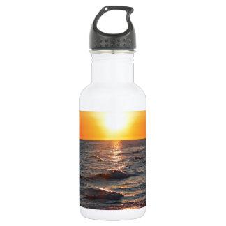 Florida gulf coast sunset water bottle