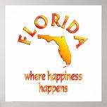 FLORIDA Happiness Print