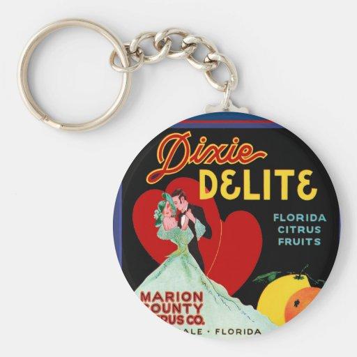 Florida Heart Keychains