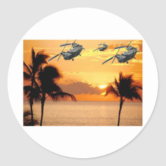 Florida Helicopter Formation Classic Round Sticker