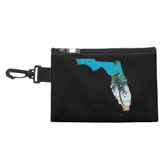 FLORIDA Home  Beach Ocean Palm Tree Filled Accessory Bag