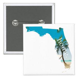 FLORIDA Home  Beach Ocean Palm Tree Filled Button